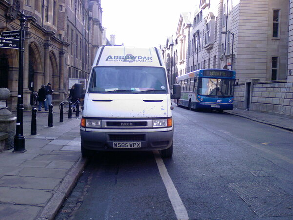 The photo for Vehicles using Mandatory Cycle Lanes (MCLs) in Cambridge and beyond.