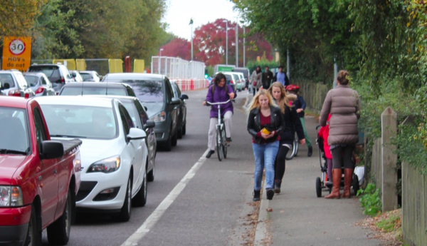 The photo for Safer Walking and Cycling between NW Cambridge and Girton.